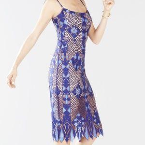 BCBGMAXAZRIA Alese Asymmetrical Geo Lace Dress